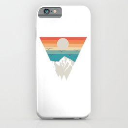Retro Vintage Hiking Shirt For Hikers With A Retro Look Of Mountain T-shirt Design Mountains iPhone Case