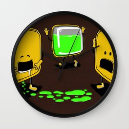 Radioactive Tupper Wall Clock