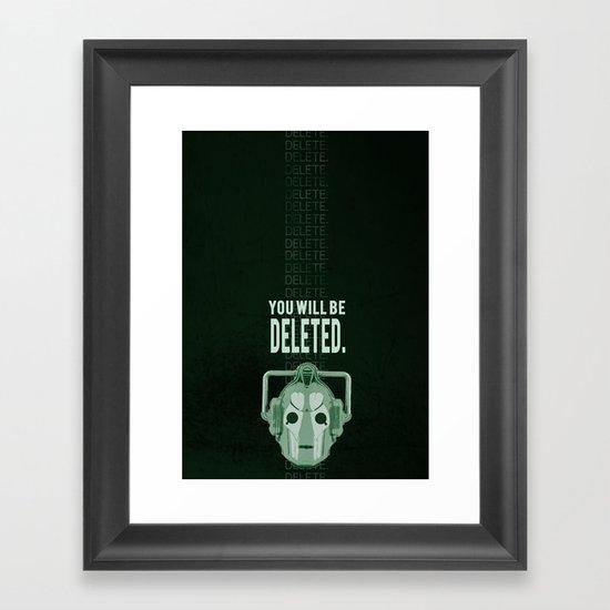 Doctor Who: Cybermen Print Framed Art Print