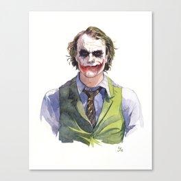 Heath Ledger (The Joker) Canvas Print