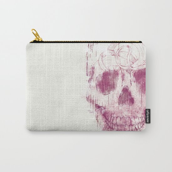 skeleton head Carry-All Pouch