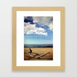 The Sea Casts its Spell Framed Art Print