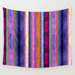 Serape Stripe Mexicali Wall Tapestry