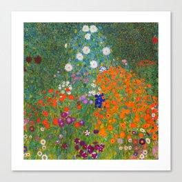 Flower Garden Bauerngarten Klimt Garden Floral Oil Painting Canvas Print