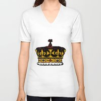 crown V-neck T-shirts featuring Crown by Michael Keene
