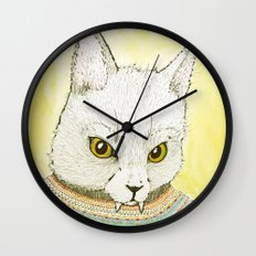 SWEATER AND ALSO CAT Wall Clock