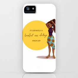 Barefeet and Chitenje Kinda Day iPhone Case