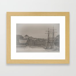 Tall and small Framed Art Print