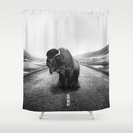 Lonely Hiker Shower Curtain