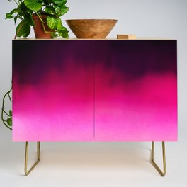 Purple and Black Abstract Credenza