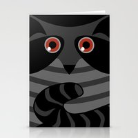 racoon Stationery Cards featuring racoon - raccoon  by ArigigiPixel