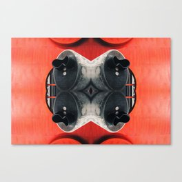 Faces in places squared Canvas Print