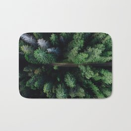 Aerial Forest Green Trees Bath Mat
