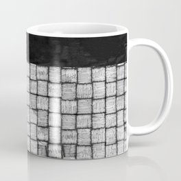 Wicker texture pattern in black and white Coffee Mug