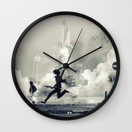 Mission to earth Wall Clock