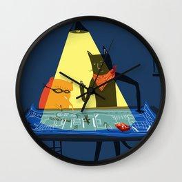 The Adventures of Ham & Cat: The Milk Crate Heist  Wall Clock