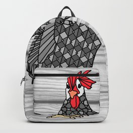 Gray Chicken Backpack
