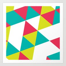 TROPICAL TRIANGLES - Vol 2 Art Print