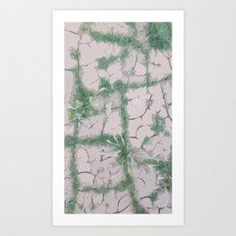Green Grout Art Print