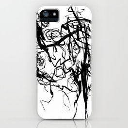 Heart | Black and White Abstract Art | Black and White Art Prints iPhone Case