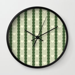 Green Locket Wall Clock