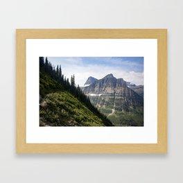 Glacier Mountains Framed Art Print