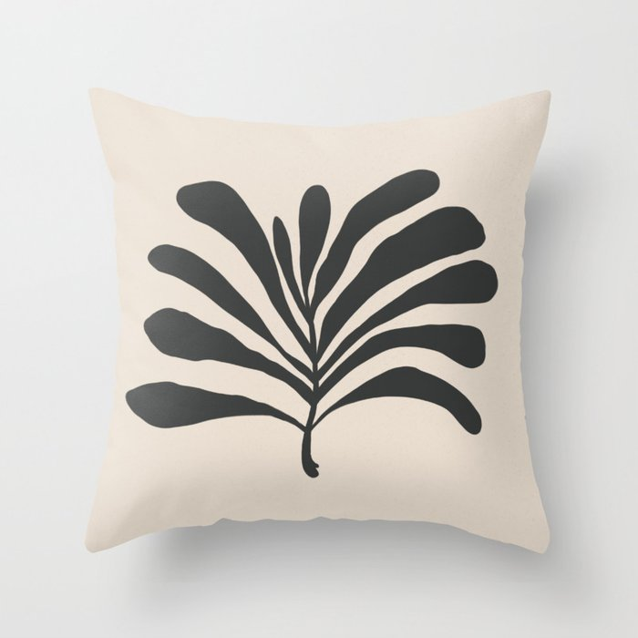 thick palm Throw Pillow