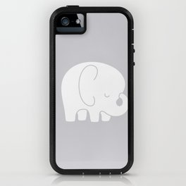 Mod Baby Elephant Grey iPhone Case
