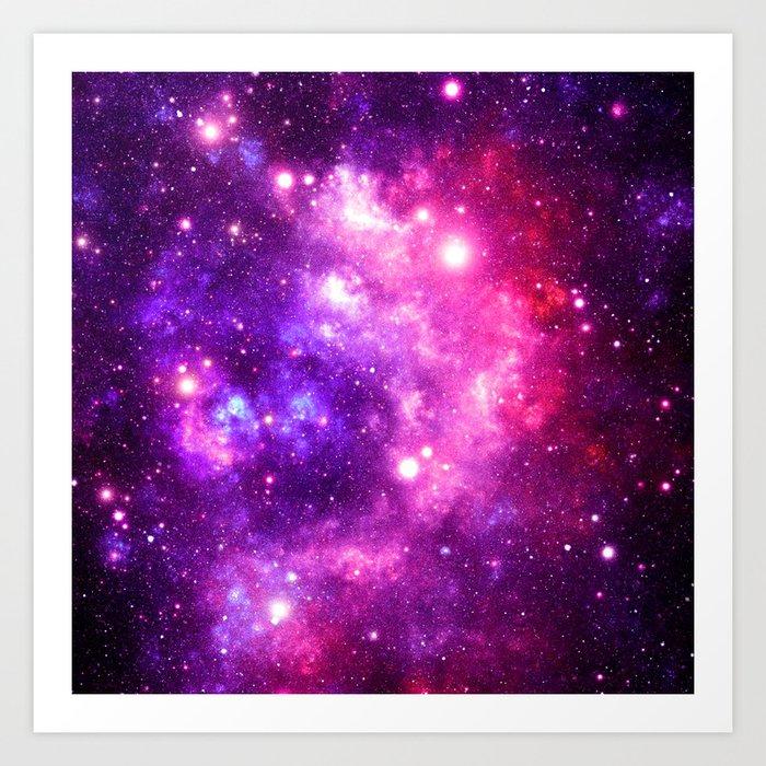 purple pink galaxy nebula art print by vintageby2sweet society6