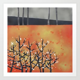 Blackthorn Landscape Art Print