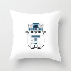 Droid Paws Throw Pillow