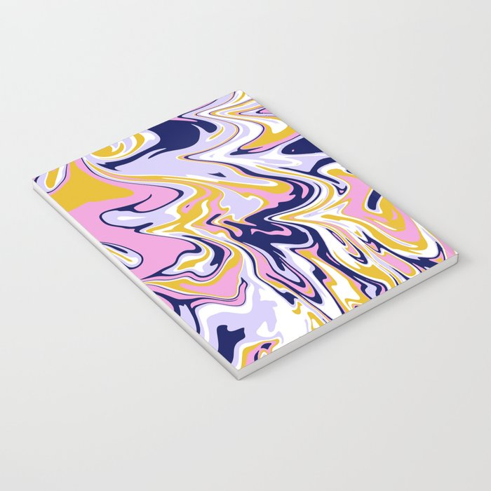 pink, navy & gold marble Notebook
