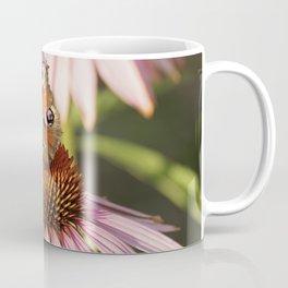 Butterfly Pink Flowers Coffee Mug