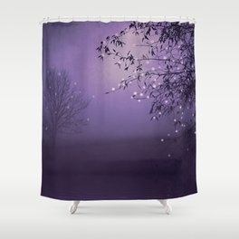 SONG OF THE NIGHTBIRD - LAVENDER Shower Curtain
