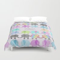 equality Duvet Covers featuring Equality Elephants by Jessica Latham