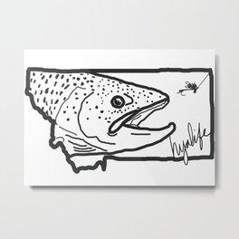 Hyalife Montana Signature  Metal Print