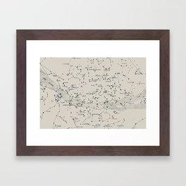 Carte du Ciel II Framed Art Print