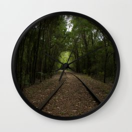 Tree Tunnels Wall Clock