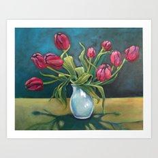 Cathy's Tulips Art Print
