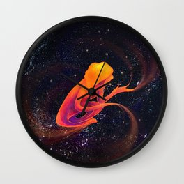 Kelsey in the Universe Wall Clock