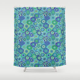 Millefiori-Oceania Colors Shower Curtain