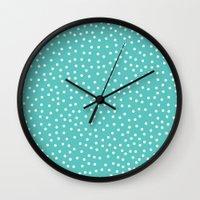 dots Wall Clocks featuring Dots. by Priscila Peress