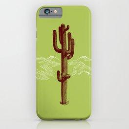 cactus y nieve iPhone Case