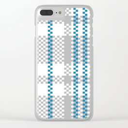 Plastic Woven Checkered bag: Blue and Grey Clear iPhone Case