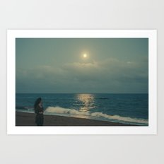 Quédate luna Art Print