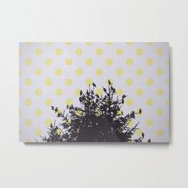 Birds and pine tree 2 Metal Print