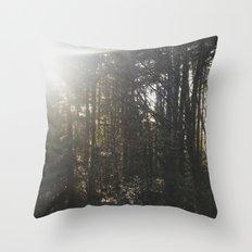 Of light & trees Throw Pillow