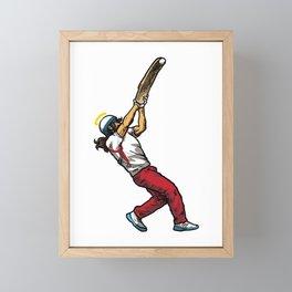Cool Jesus Jai Alai Gift Idea Framed Mini Art Print