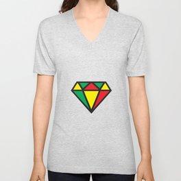 Reggae Diamond Unisex V-Neck