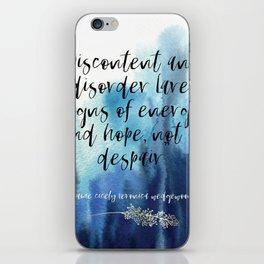 discontent + disorder iPhone Skin